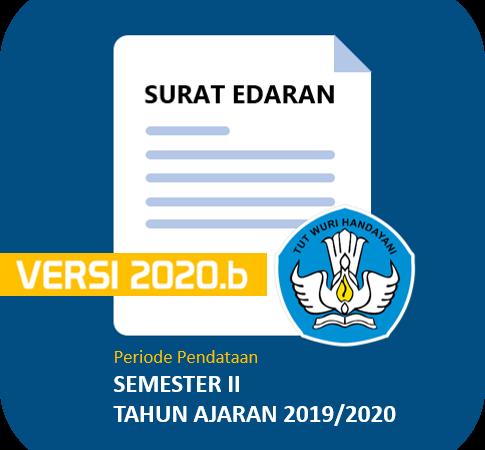 Surat Edaran Dirjen Paud, Dikdas dan Dikmen Tentang Pemutakhiran Data Pokok Pendidikan Dasar dan Menengah Semester II Tahun Ajaran 2019/2020